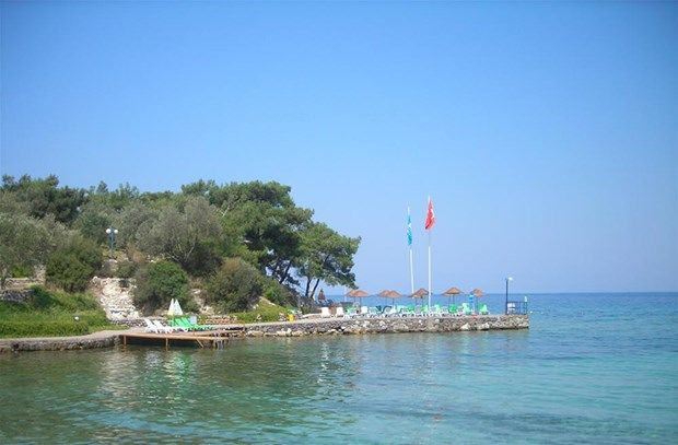 Kayra plaji, Dikili, Izmir-Turkey.