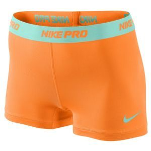 "Nike Pro 2.5"" Compression Short - Women's - Training - Clothing - Vivid Orange/Tropical Twist"