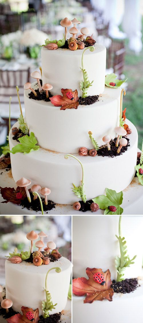 Fantastic wedding cake for rustic chic farm wedding in Florida, photos by Captured Photography by Jenny
