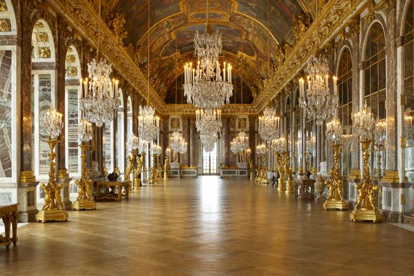 Inside the Palace of Versailles. The hall of mirrors. Incredible.