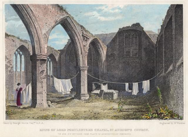 St. Audoen's Church. Engraving: Individual print held at Dublin City Library & Archive
