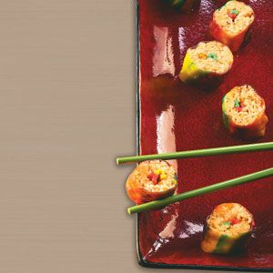 Kids' Sushi Recipe from Taste of Home -- shared by Lorri Reinhardt of Big Bend, Wisconsin  #April_Fools