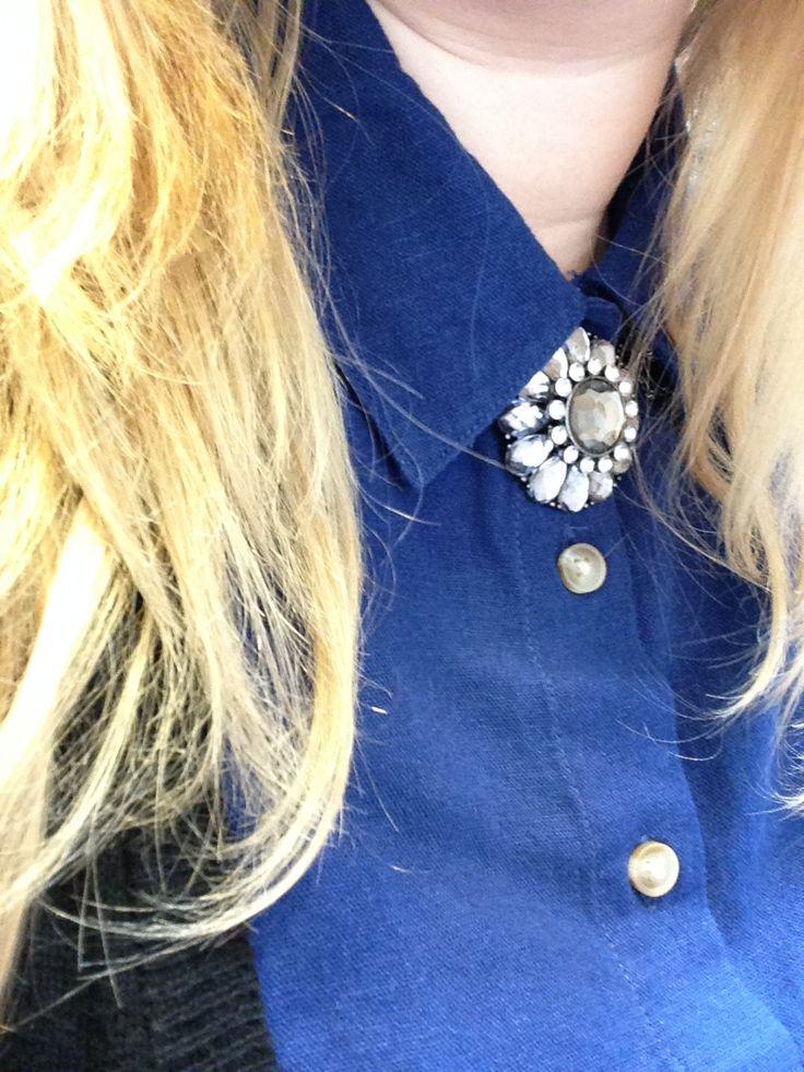 #jewelled #statementnecklace #bluelinen jewelled statement necklace blue linen