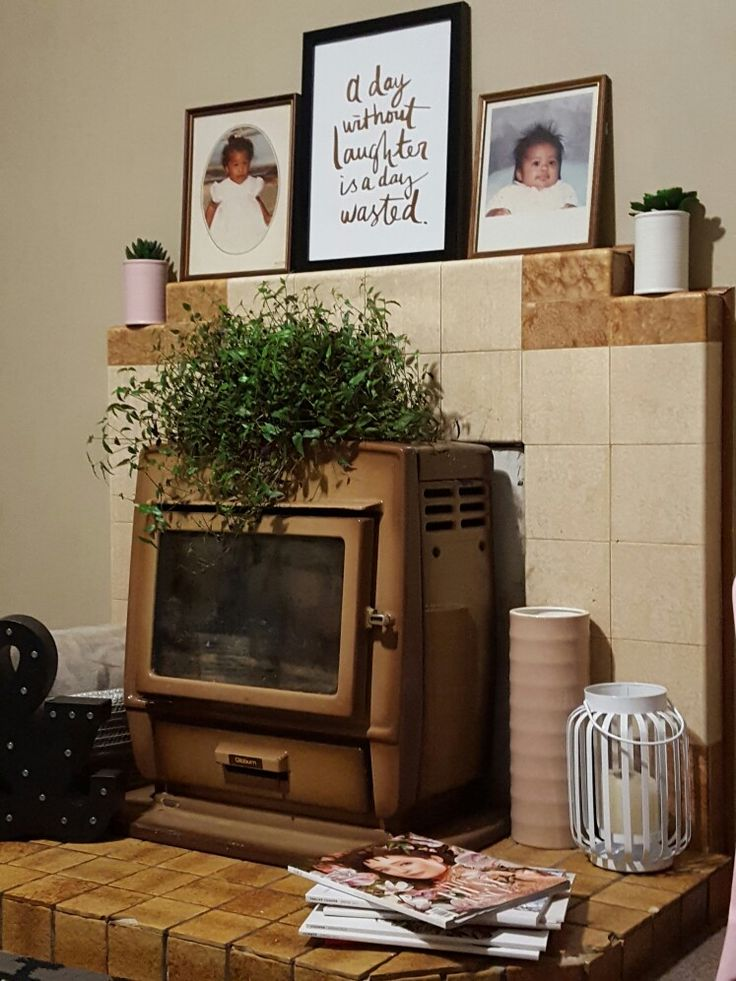 Restyled 1960s Fireplace