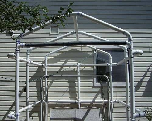 Pvc gazebo greenhouse frame perhaps my dream garden for Pvc pipe garden projects