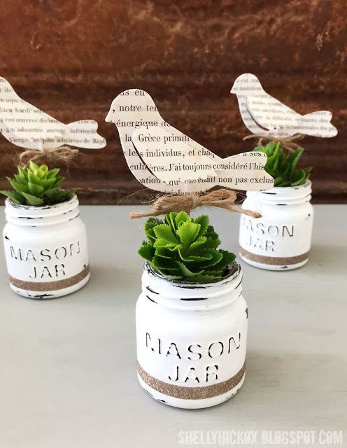 DecoArt Chalk Paint Mini Mason Jar Planters | Stamptramp | Bloglovin'