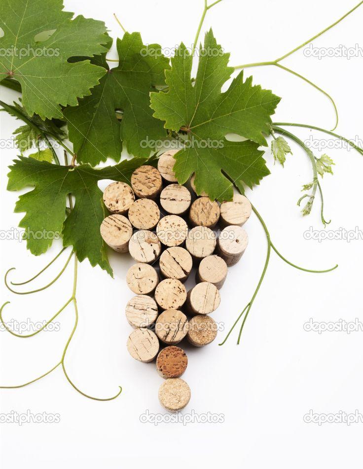 Wine cork grape cluster!