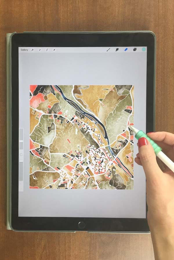 Learn To Create Illustrated Maps On Your Ipad In Procreate