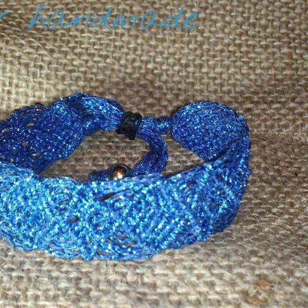 blue macrame bracelet #caspar