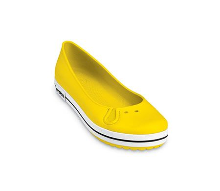 Crocband Flat Yellow --- Crocs shoes Homeys Slippers Cushe shoes and Jibbitz from shoesite - home of homey cool slippers croc shoes cushe footwear little missmatched and Ocean Minded
