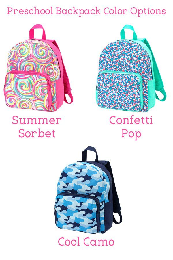 Personalized Preschool Backpacks - Send your boy or girl to preschool  sporting a stylish premium backpack personalized with his or her name or  monogrammed ... cfa7bdfa43f01