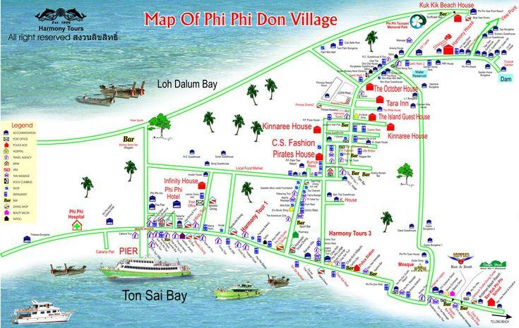 koh phi phi accommodation map | PP Princess Resort Phi Phi Island in Krabi Thailand