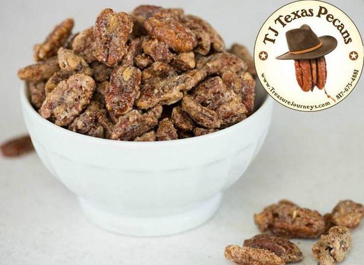TJ Texas Pecans Cinnamon Sugar Coated Flavor - 1 Pound | Treasure Journeys