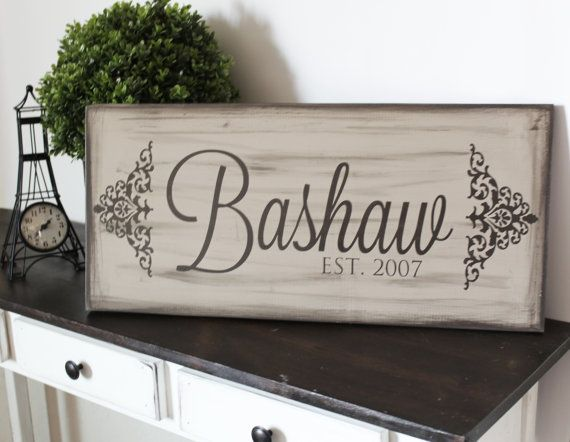 Name Sign Personalized Gift Established Sign by Thesignshoppe1
