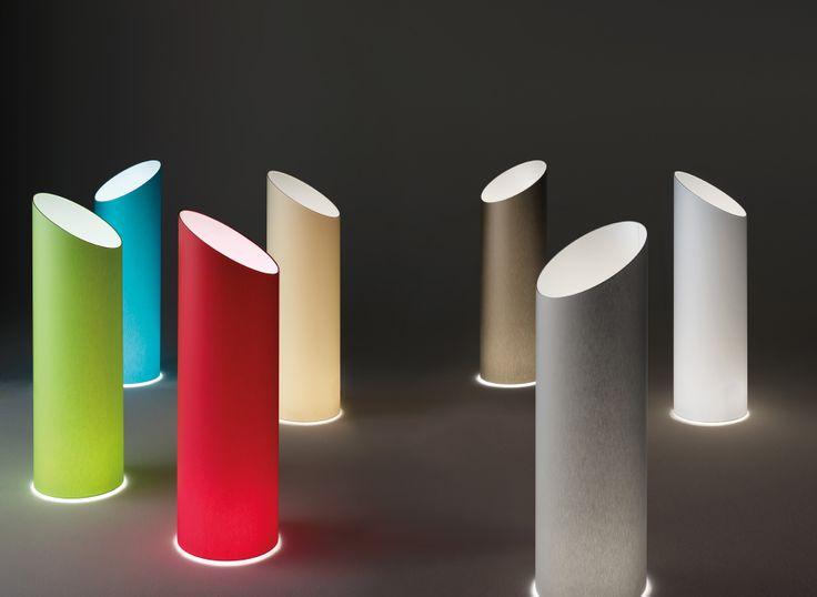 Pank TE floor lamp. Complete range of diffusing fabric colours.