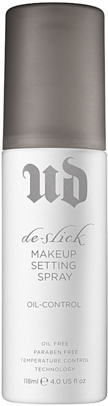 Meet your most powerful oil-control ally. Urban Decay's De-Slick mists on weightlessly to control oil, deflect surface shine and keep skin looking beautifully matte.