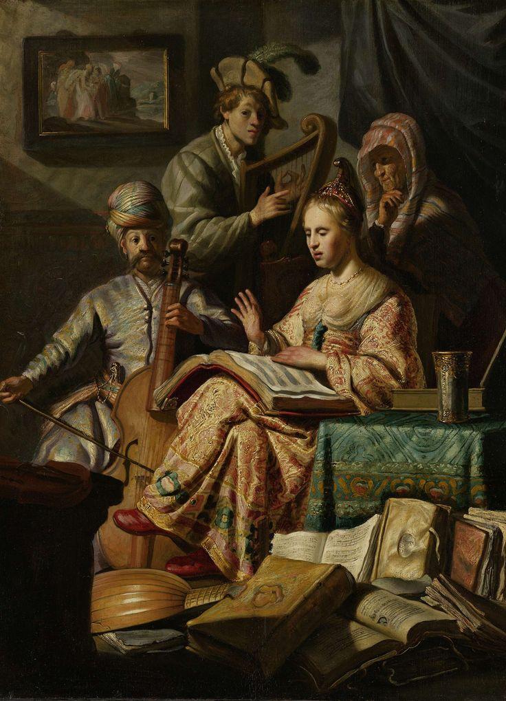 Musicerend gezelschap, 1626 Rembrandt Harmensz. van Rijn (Leiden 1606 - Amsterdam 1669) Rijksmuseum Amsterdam