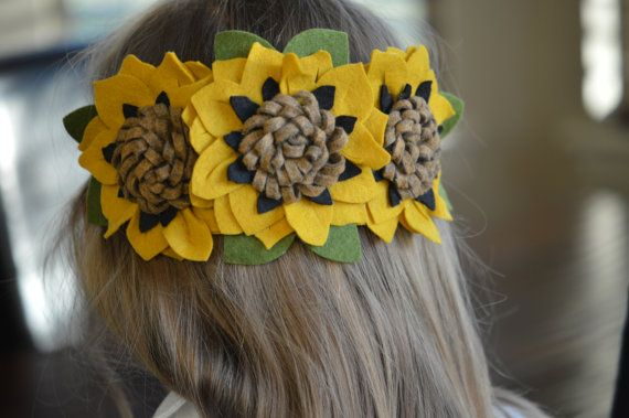Fleur de tournesol guirlande serre-tête | Bandeau de la Couronne de fleurs | Photo Prop