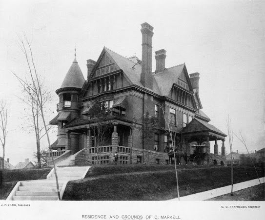 The Markell/Whiteside Queen Anne Style House was built by Oliver G. Traphagen in 1890. It was demolished in 1961 in order to build St. Anne's Residence and St. Anne's Nursing Center - 325 E. 2nd St. Dulutn, MN
