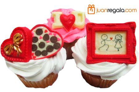Los mas deliciosos CupCakes, perfectos para conquistar a tu pareja. JuanRegala.com