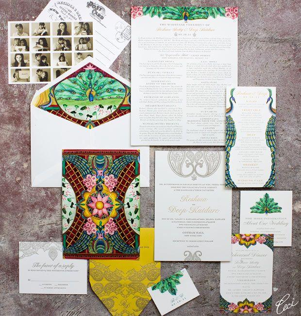 Indian wedding invitations - Ceci Wedding - Ceci New York