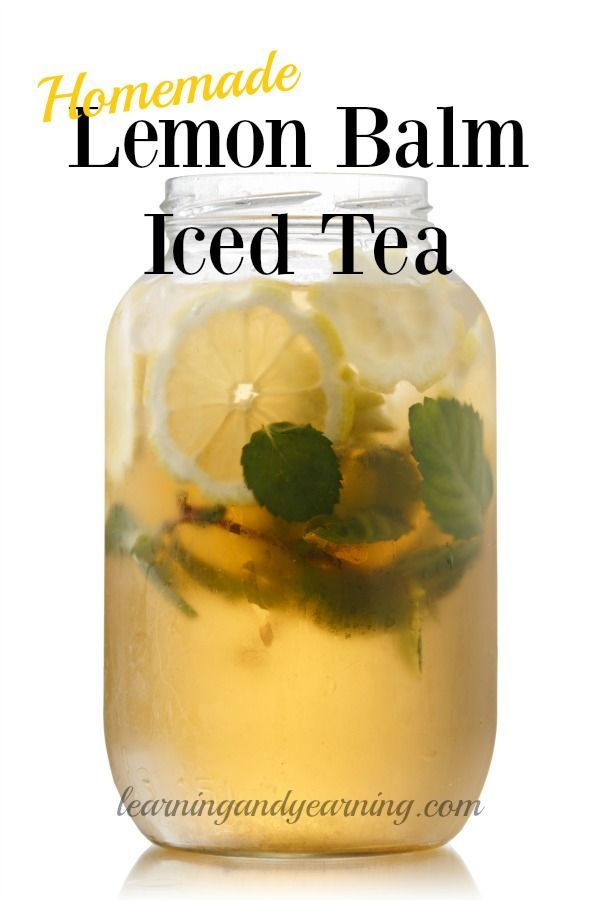 If you grow or forage lemon balm, try using some to make lemon balm iced tea. It's incredibly delicious and easy to make!