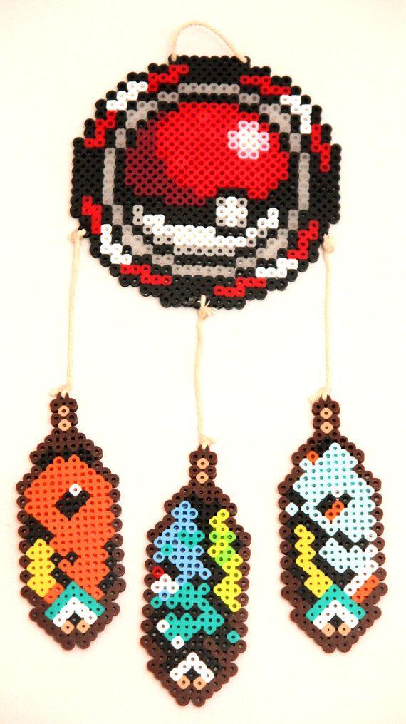 Pokemon Dream Catcher Perler Beads by ThatsTheBeadsKnees