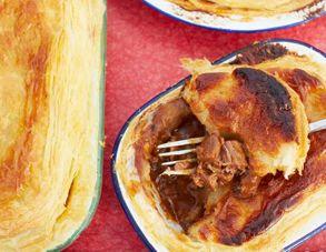 Scrumptious steak and stout pie