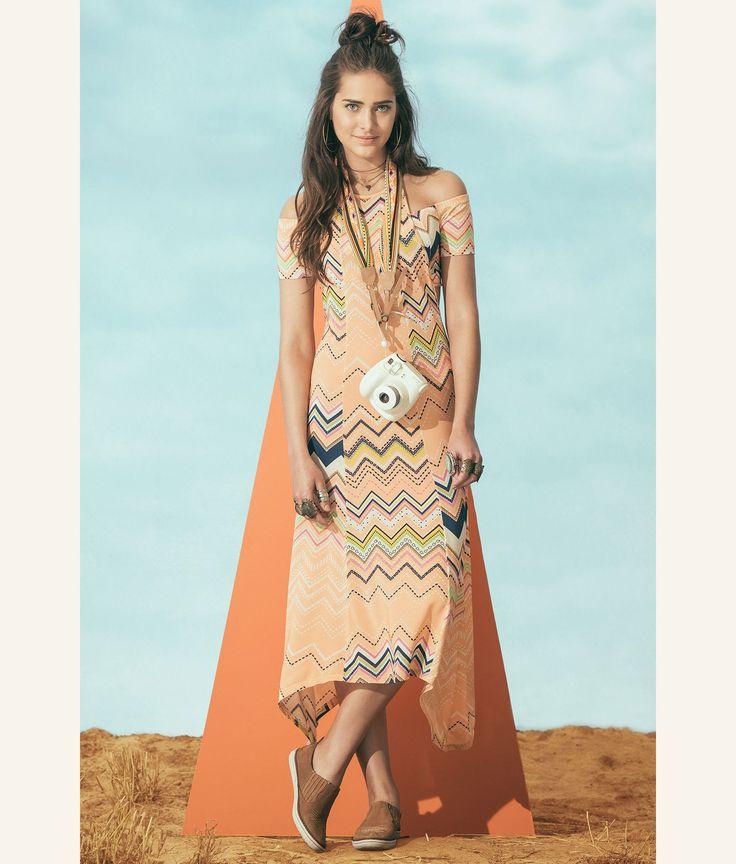 vestido longo chevie fluor