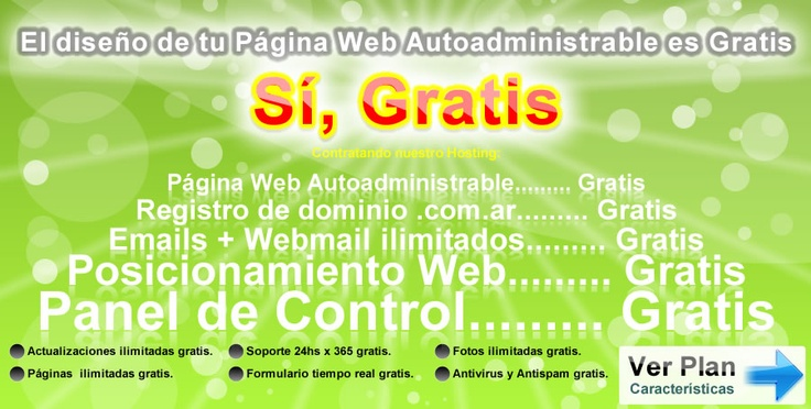Diseño Web Gratis    http://www.supaginagratis.com.ar/