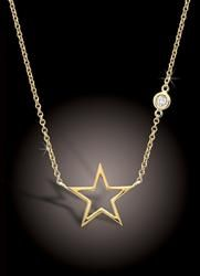Rachel's Star and Diamond Necklace (from Glee)  Looks pretty in white gold too! Wish the heart were filled-in