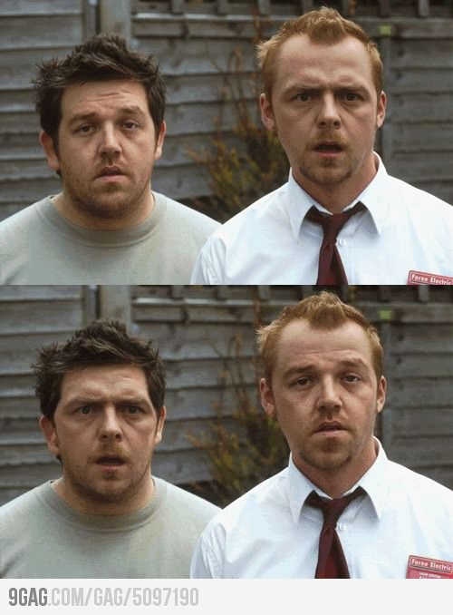 Awesome face swap: Simon Pegg & Nick Frost