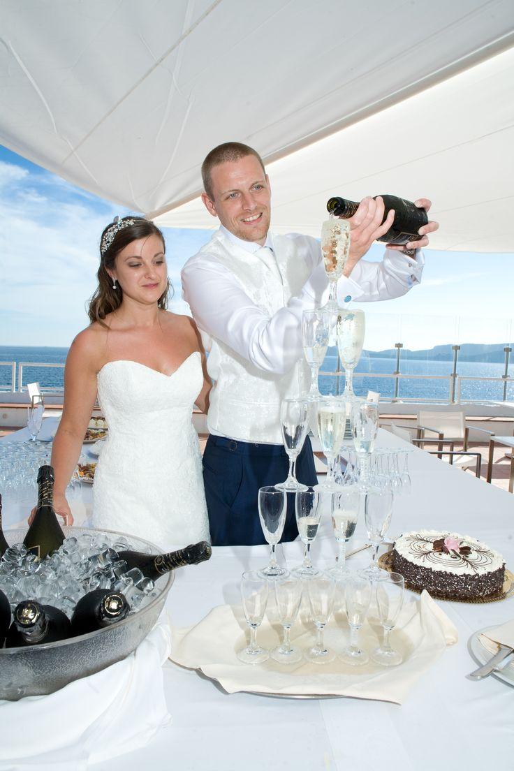 Cascata di Champagne per gli sposi!!!