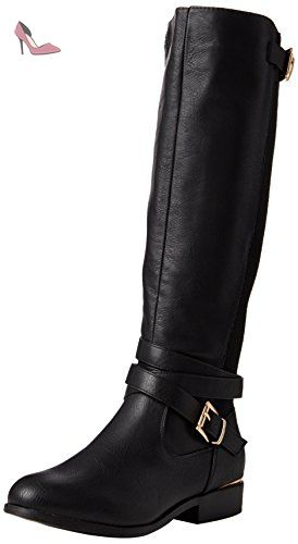 New Look Bandorra - Bottes Cavalières Bottes - - - - femme - Noir (black/01) - (Taille fabricant: 3) - Chaussures new look (*Partner-Link)
