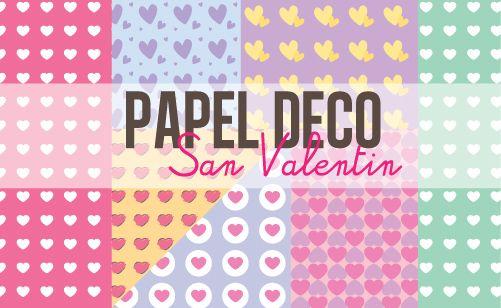 Papel deco de Corazones - San Valentin