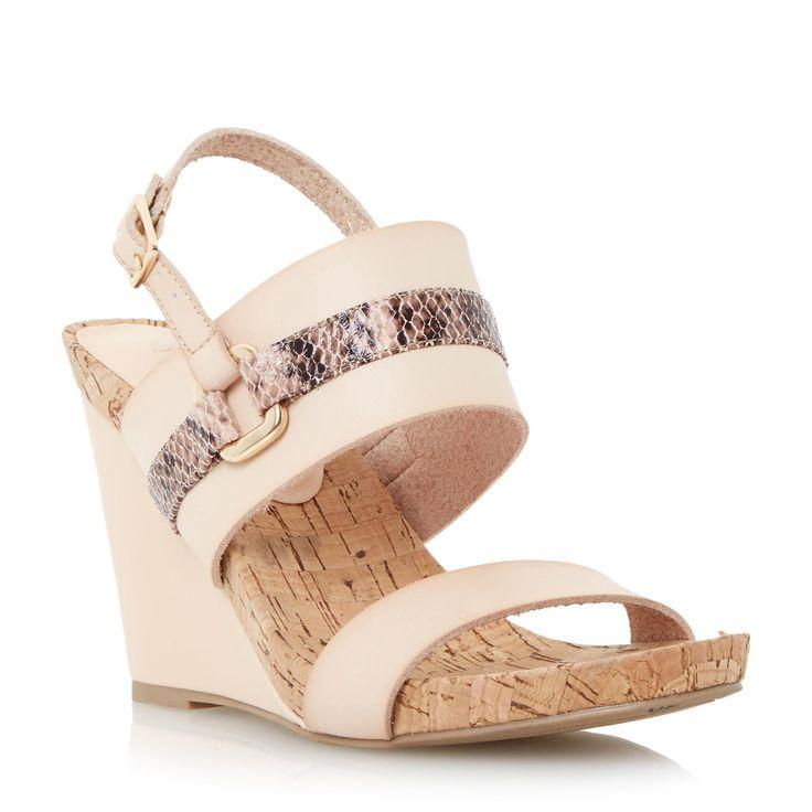 DUNE LADIES KIMMIE - Cork Wedge Sandal - blush   Dune Shoes Online