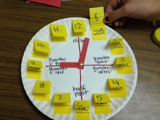Clocks and Telling Time Ideas (link said it could be spammy, but looking at the picture is all you need.)