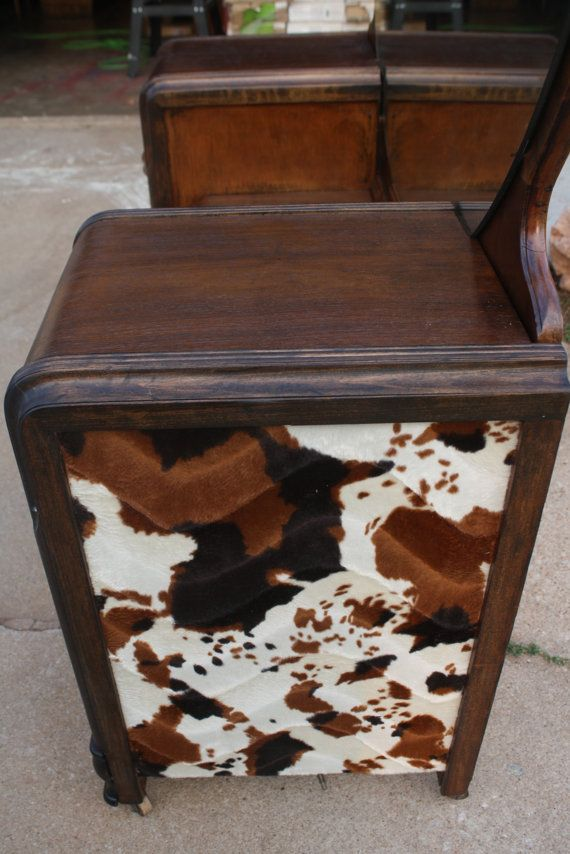 Vintage Art Deco Western-Country WaterFall Vanity Low boy Dresser Vanity. $300.00, via Etsy.... This would be so super cute for a little boys room that was done in western/Cowboy decor!!!