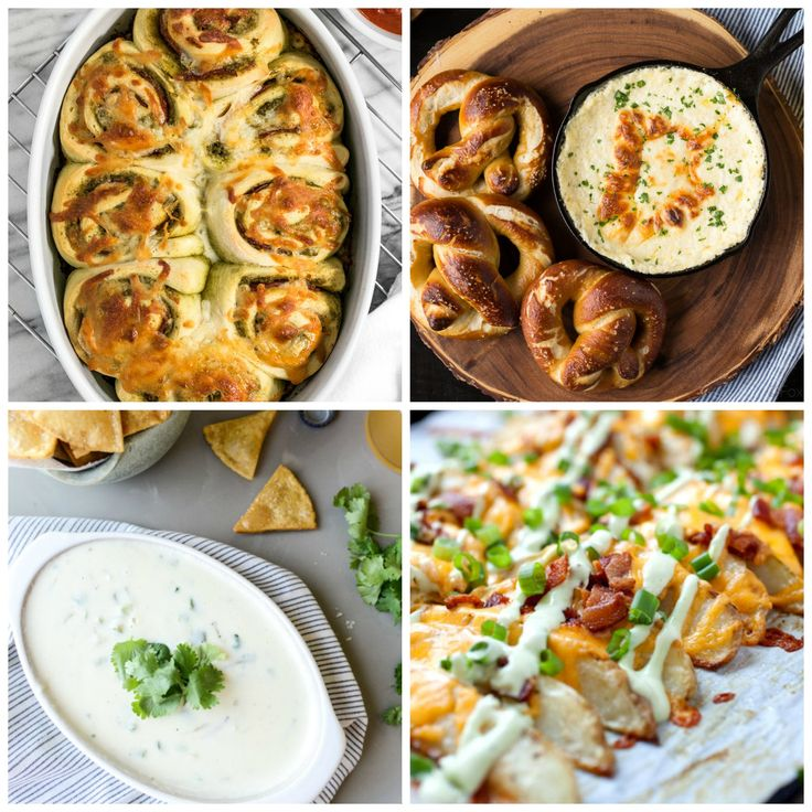 Football season is upon us! Which really means an excuse to munch on delicious snacks and lounge around all weekend! Today I'm sharing 20 of my favorite savory Game Day snacks – perfect to enjoy while cheering on your team! From pizza rolls to guacamole, soft pretzels to cheesy bread, there's something for everyone to... Read More