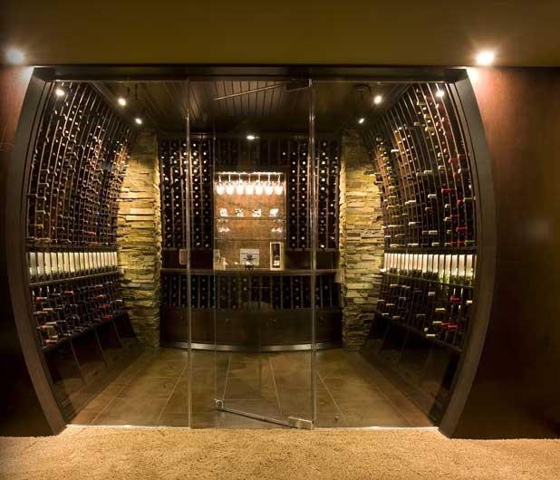 61 best modern wine storage images on pinterest wine for Modern wine bar design