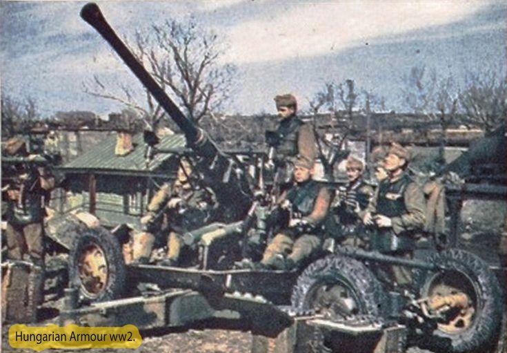 Bofors magyar kezelőkkel.