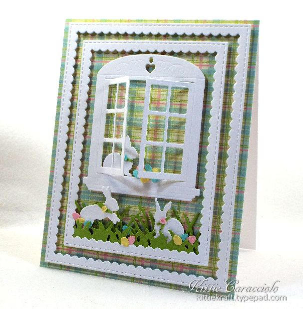 Art Impressions Rubber Stamps: Ai Dies: 4619 – Window Die ... handmade Easter Card.
