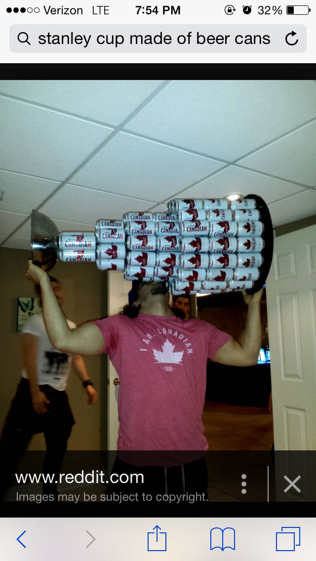 Beer can Stanley Cup