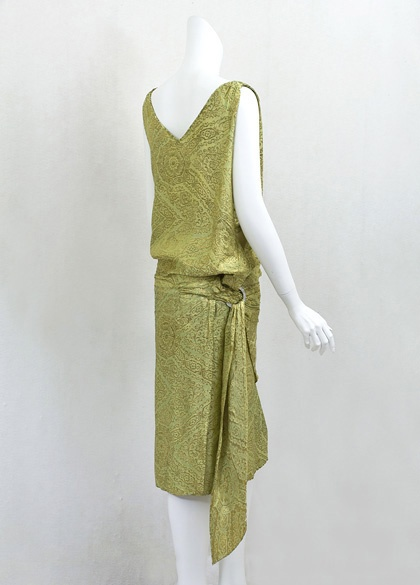 1920s Clothing at Vintage Textile: #7279 lame flapper dress