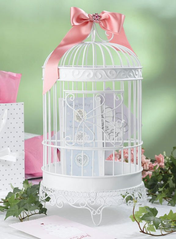 97 best vogelkooitjes images on pinterest birdhouses bird cage elegant birdcage card holder wedding decoration for the reception the bow is not included this item is designed for cards and decorative use only not junglespirit Choice Image