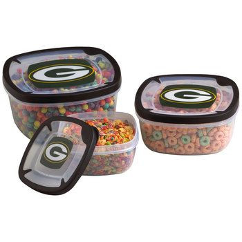 Green Bay Packers 3-Pack Storage Containers at the Packers Pro Shop http://www.packersproshop.com/sku/2014358051/