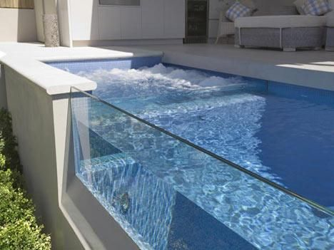 Resultado de imagen para pool glass wall