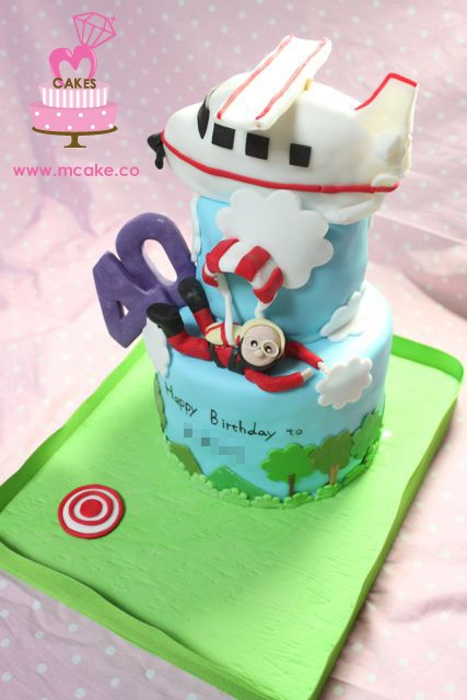 7 Best Images About Sky Diving Cakes On Pinterest
