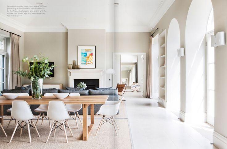 #est magazine Doherty Lynch Beach House #interiors #living room