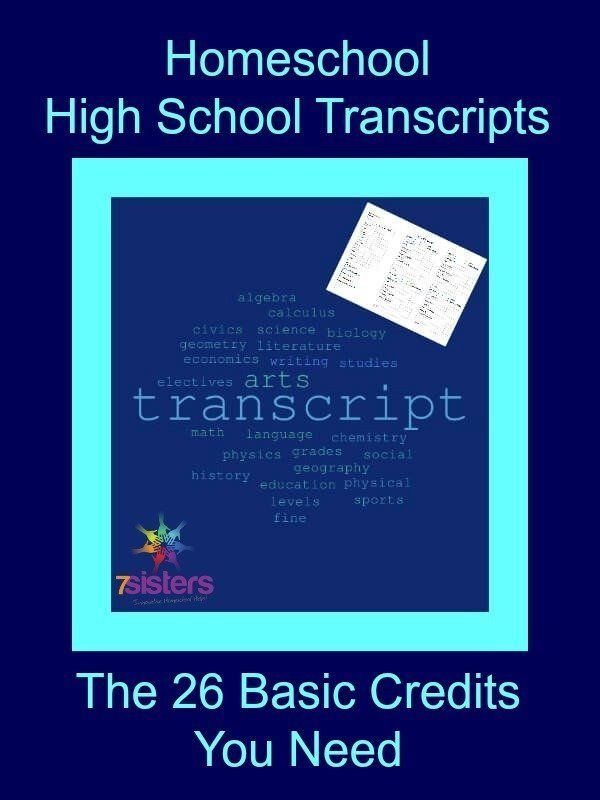 Homeschool Excessive Faculty Transcripts: The 26 Primary Credit You Want
